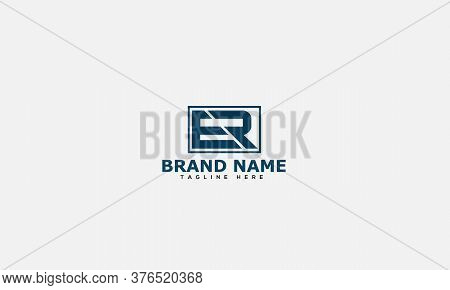 Er Logo Design Template Vector Graphic Branding Element.