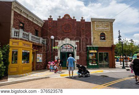 Orlando, Fl/usa-7/3/20:  The Sesame Street Area Of Seaworld In Orlando, Florida.
