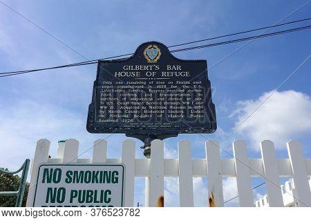 Stuart, Fl/usa-7/10/20: Gilbert's Bar House Of Refuge Museum In Stuart, Florida Is The Last Remainin
