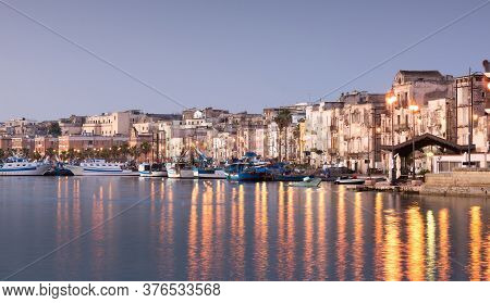 Old Part Of Taranto City In The Morning, Italy, Puglia