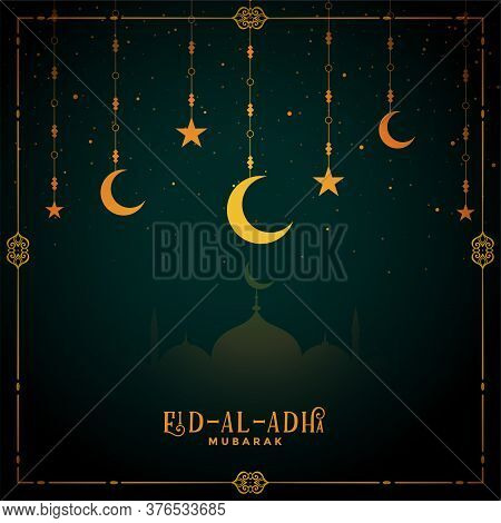 Decorative Eid Al Adha Mubarak Festival Background Design