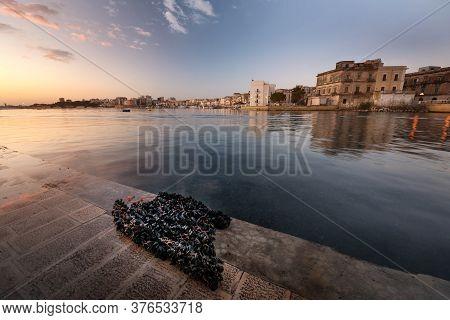 Taranto City In The Morning. Italy, Puglia