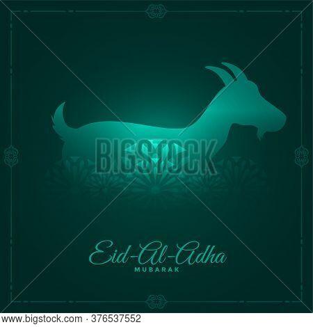 Eid Al Adha Greeting Card Design In Shiny Style