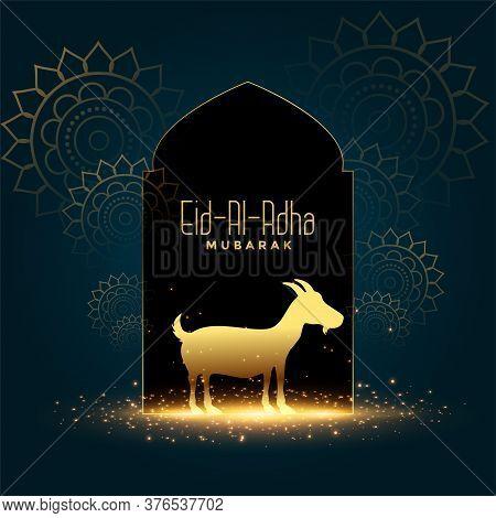Nice Eid Al Adha Mubarak Bakrid Festival Card Design