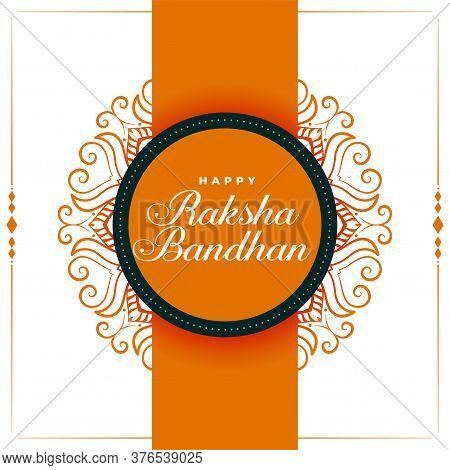 Indian Rakshabandhan Traditional Festival Greeting Design Background