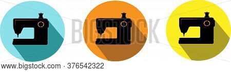 Sewing Machine Icon Isolated On Background Sewing Needle, Simple, Skill, Stitch