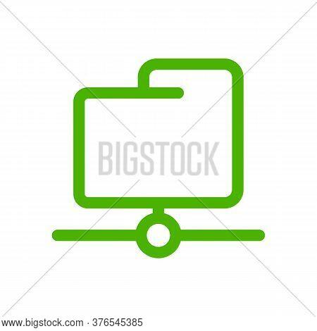 Folder Icon Vector Illustration. Isolated Ftp Data Symbol. Server Folder Line Concept. Web Storage G