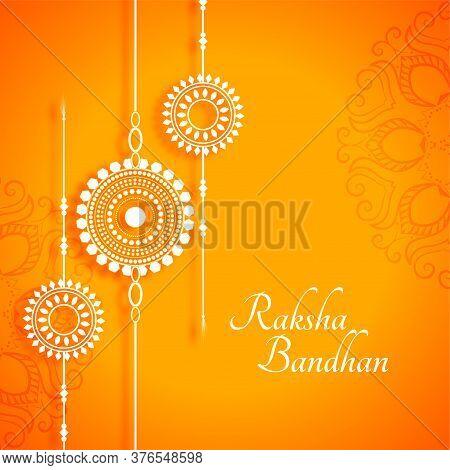 Beautiful Raksha Bandhan Yellow Festival Indian Style Background