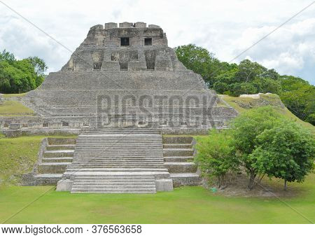 Historic Ancient City Ruins Of Xunantunich Archaeological Reserve In Belize.