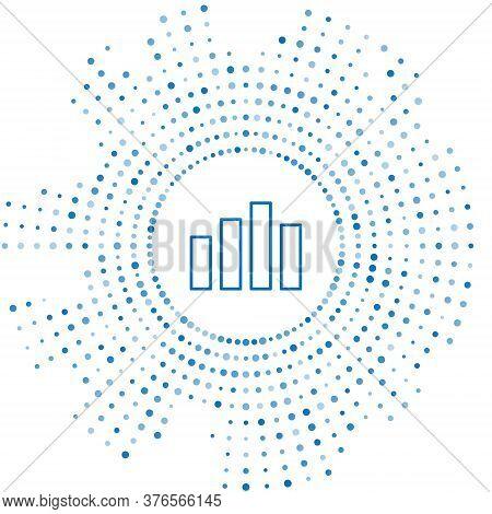 Blue Line Music Equalizer Icon Isolated On White Background. Sound Wave. Audio Digital Equalizer Tec