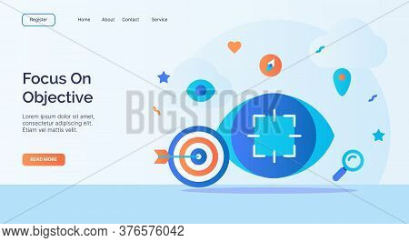 Focus On Objective Archery Focus Eye Icon Campaign For Web Website Home Homepage Landing Template Ba