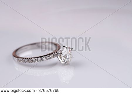 Luxury Diamond Engagement Ring. Jewelry Precious Ring