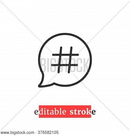 Minimal Editable Stroke Relevant Icon. Flat Change Line Thickness Logotype Graphic Lineart Design Ar