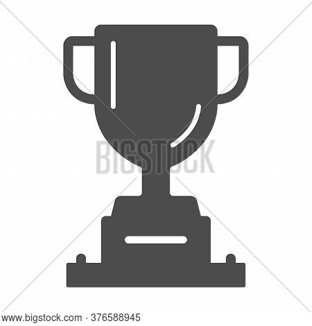 Winner Cup Solid Icon, Sports And Competition Concept, Trophy Sign On White Background, Champion Cup