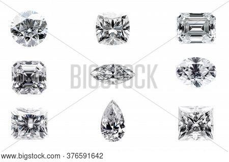 Diamond Shapes Isolated On The White Background