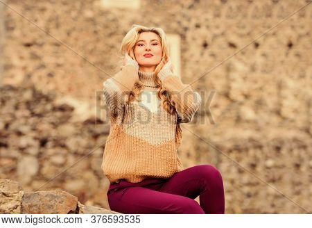 Vacation And Travel. Travel Agency. Explore Midcentury Castle Ruins. Travel Destinations. Woman Make