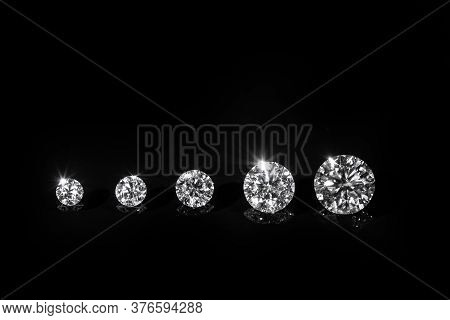 Luxury Diamond Gemstones On The Black Background