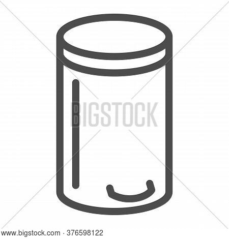 Bin Line Icon, Kitchen Appliances Concept, Trash Can Sign On White Background, Dustbin Icon In Outli