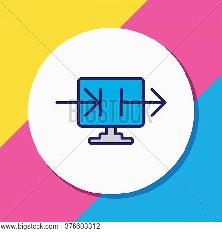 Illustration Of Data Sharing Icon Colored Line. Beautiful Data Element Also Can Be Used As Datacente