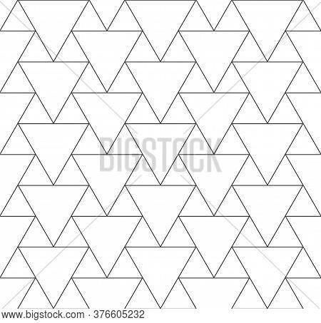 Continuous Monochrome Vector Web, Plexus Texture. Seamless Ramadan Graphic Luxury Background Pattern