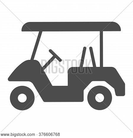 Golf Car Solid Icon, Equipment And Sport Concept, Electric Golf Car Sign On White Background, Golf C