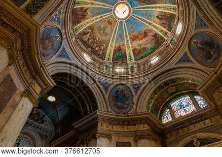 Haifa, Israel, July 10, 2020 : The Interior Of The Stella Maris Monastery Which Is Located On Mount