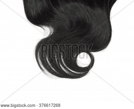 Shiny Black Highlight Hair Abstract Background Texture