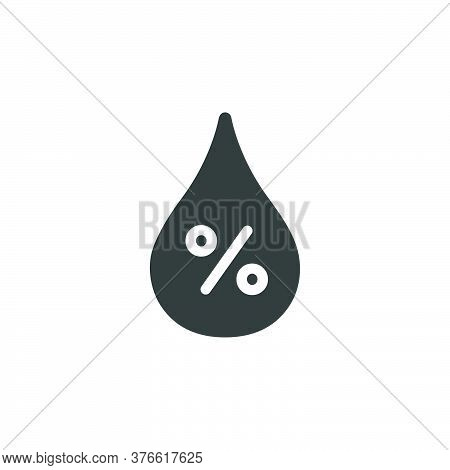 Humidity Percent. Isolated Icon. Weather Glyph Vector Illustration