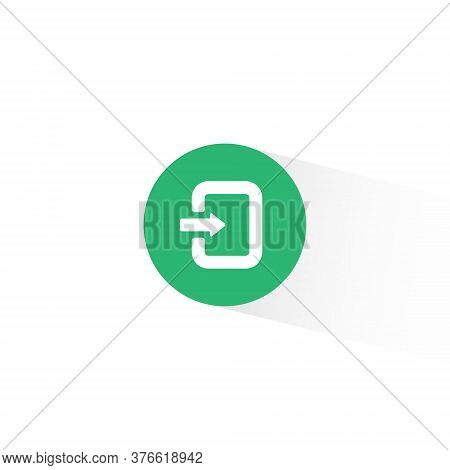 Enter Sign Vector Trendy Flat Style. Get In Icon Illustration