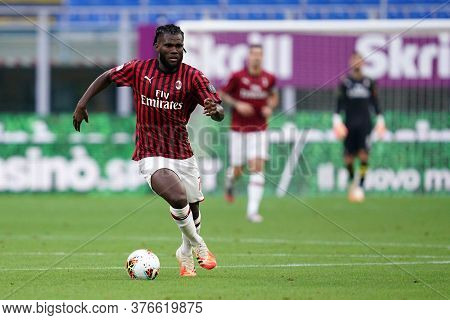 Milano, (italy). 15th July 2020. Italian Serie A. Ac Milan Vs Parma Calcio . Franck Kessie  Of Ac Mi