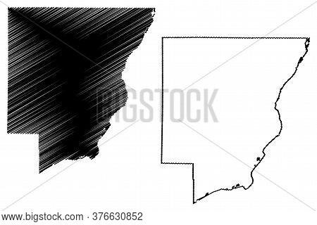 Peoria County, Illinois (u.s. County, United States Of America, Usa, U.s., Us) Map Vector Illustrati
