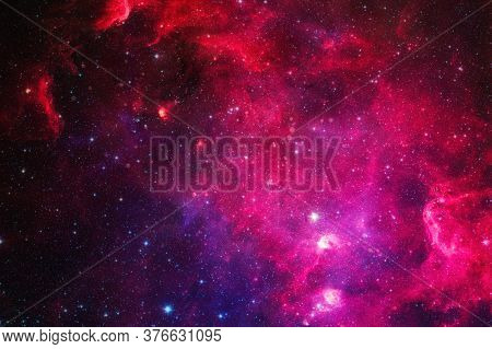 Galaxy And Light. Planets, Stars And Galaxies In Outer Space Showing The Beauty Of Space Exploration