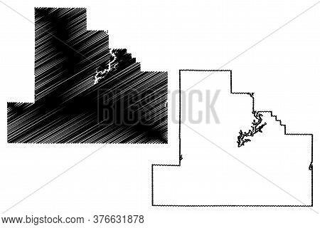 Shelby County, Illinois (u.s. County, United States Of America, Usa, U.s., Us) Map Vector Illustrati