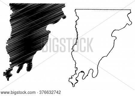 Wabash County, Illinois (u.s. County, United States Of America, Usa, U.s., Us) Map Vector Illustrati