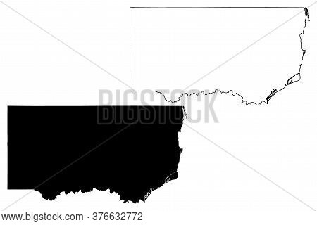 Clinton County, Iowa (u.s. County, United States Of America, Usa, U.s., Us) Map Vector Illustration,
