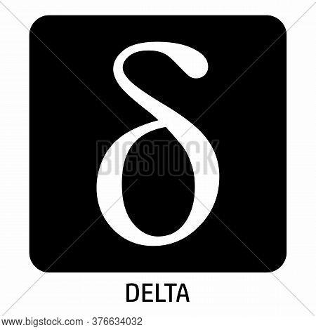 Lowercase Delta Greek Letter Icon On Dark Background