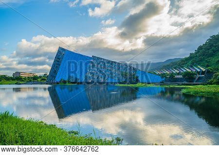 July 15, 2020: Scenery Of Lanyang Museum In Yilan County, Taiwan. The Main Building Was Designed By