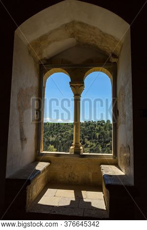 Segovia, Spain - April 24, 2019: The famous Alcazar castle of Segovia, interior details, Castilla y Leon, Spain