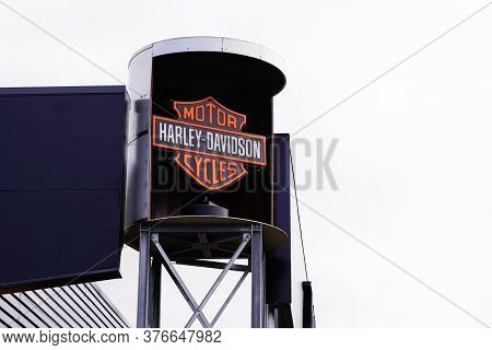 Bordeaux , Aquitaine / France - 07 07 2020 : Harley Davidson Logo Sign Text On Shop Retailer Facade