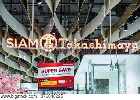 Bangkok, Thailand - June, 2020 : Siam Takashimaya Department Store On June 14, 2020 At Bangkok, Thai