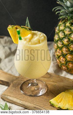 Boozy Frozen Pina Colada Cocktail