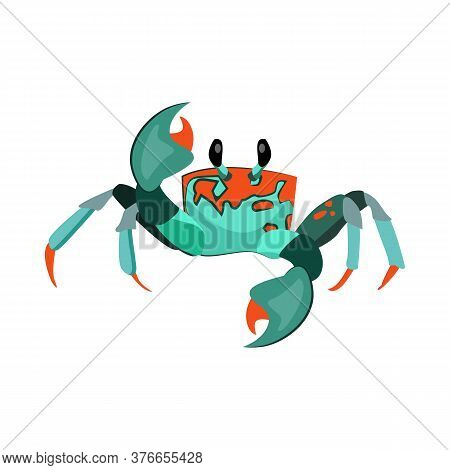 Exotic Crab Illustration. Mollusc, Ocean, Seafood. Nature Concept. Illustration Can Be Used For Topi
