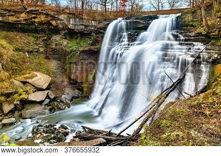 Breandywine Falls At Cuyahoga Valley National Park In Ohio, Untied States