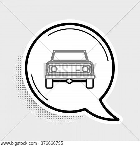 Line Off Road Car Icon Isolated On Grey Background. Jeep Sign. Colorful Outline Concept. Vector