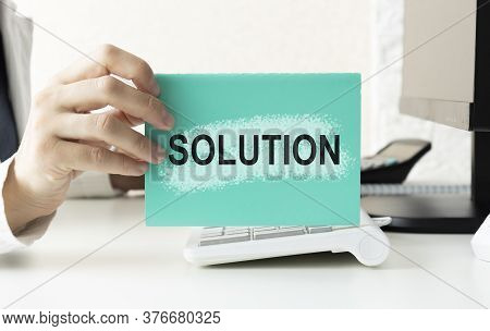 Writing Problems And Solutions List. Text Problems And Solutions On Paper.