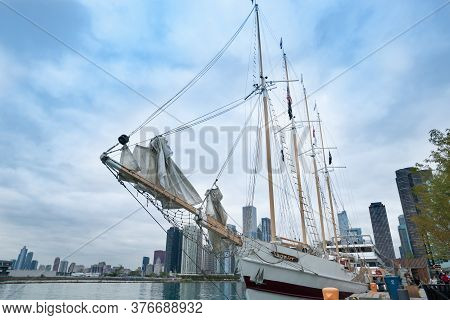 Chicago Usa - August 27 2015; Tall Ship