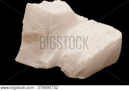 Gypsum Mineral Carved With Water And Cut From A Mine