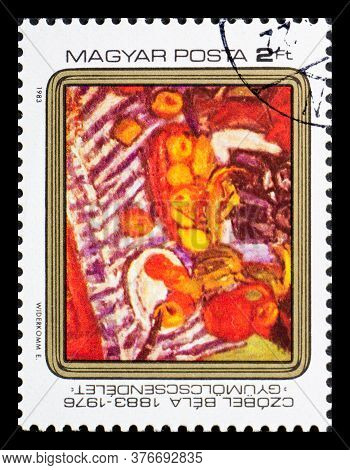 Hungary - Circa 1983: A Postage Stamp From Hungary Showing Czobel Bela Painting