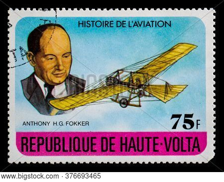 Burkina Faso - Circa 1978: A Postage Stamp From Republique De Haute-volta Showing Anthony Herman Ger