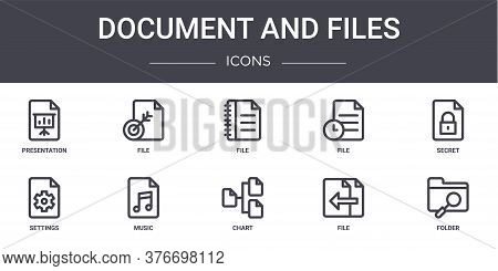 Document And Files Concept Line Icons Set. Contains Icons Usable For Web, Logo, Ui Ux Such As File,